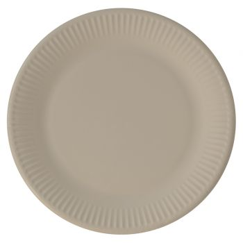 8 Assiettes compostable lin