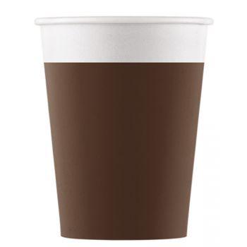 8 Gobelets compostable marron