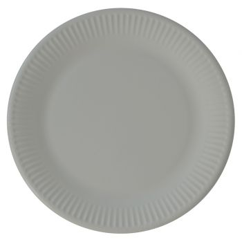 8 Assiettes compostable grise