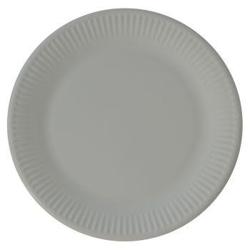 8 Assiettes compostable grise