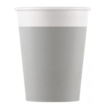 8 Gobelets compostable gris