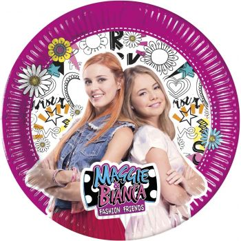 8 Assiettes Maggie et Bianca
