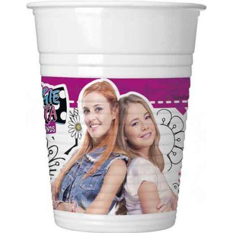 8 gobelets en plastique Maggie et Bianca pour la décoration de table d'anniversaire de votre enfant. Dimensions: 20cl