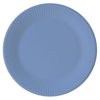 8 Assiettes compostable bleu
