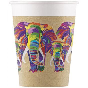 8 Gobelets compostable éléphant