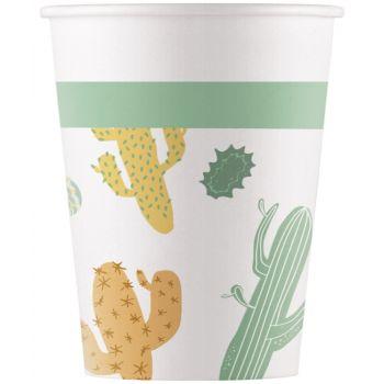 8 Gobelets compostable cactus