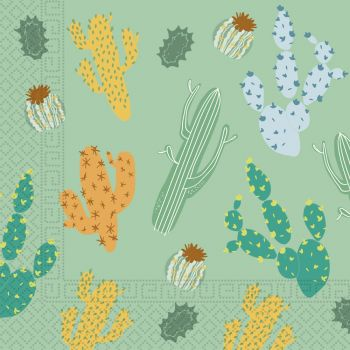 20 serviettes compostable cactus