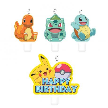 4 Bougie Pokemon pour agrémenter votre gâteau d'anniversaire