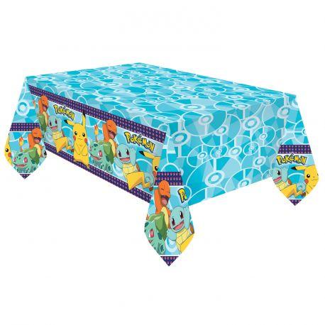 Nappe de fête en plastique Pokemon pour la décoration de votre table de fête d'anniversaire Dimensions: 180cm x 120cm