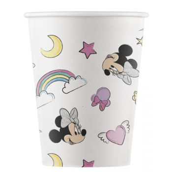 8 Gobelets compostable Minnie Licorne