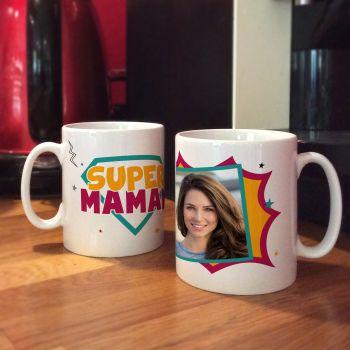 Mug personnalisé décor Super Maman