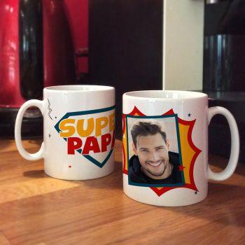 Mug personnalisé décor Super Papa