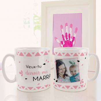 Mug personnalisé décor Ma Marraine