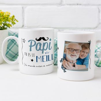 Mug personnalisé décor Le meilleur Papi