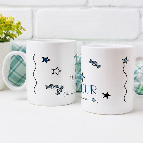 Magnifique mug Tea Time en céramique . Ce mug est un cadeau original à offrir. Compatible lave vaisselle. Matériel : céramique....