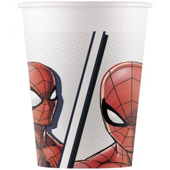 8 Gobelets compostable Spiderman