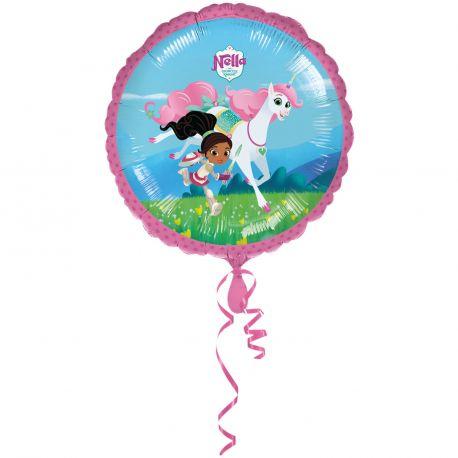 Ballon en aluminium pour une belle décoration d'anniversaire thème Nella princesse chevalier A gonfler à l'hélium pour le faire...