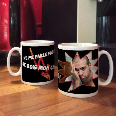 Blanc Je Mug Mon Café Personnalisé Décor Bois rBoedCx