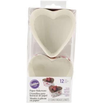 12 Moules en papier Wilton coeur