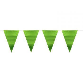 Guirlande fanions métallisés verte