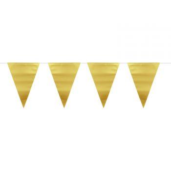 Guirlande fanions métallisés or