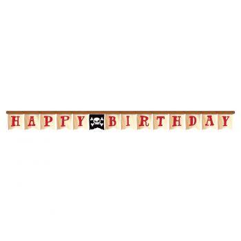 Banderole Happy birthday trésor pirate