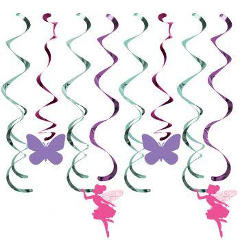 5 suspensions swirl Féérie florale