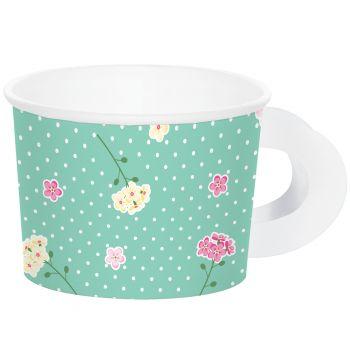 8 tasses féérie floral