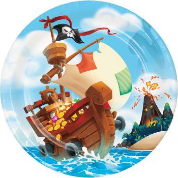 8 assiettes trésor de pirate