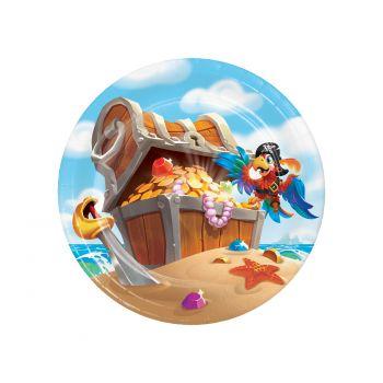 8 assiettes dessert trésor de pirate