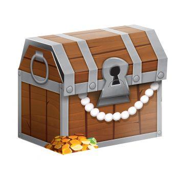 8 Boites trésor pirate