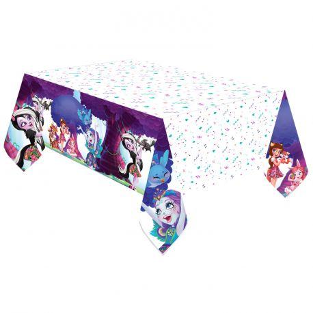 Nappe en plastiqueEnchantimals pour la deco de table d'anniversaire de votre enfant Dimensions : 120cm x 180cm