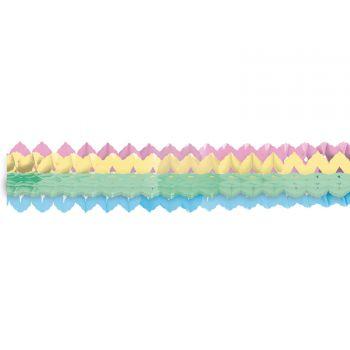 2 mini guirlande en papier pastel rainbow