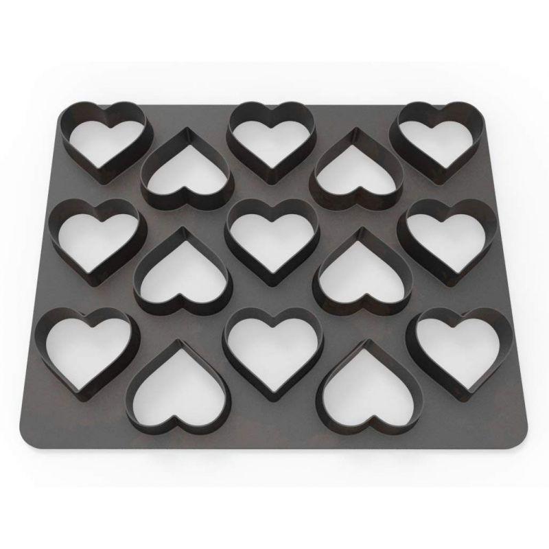 plaque 15 emporte pi ces coeur deco de g teau thema. Black Bedroom Furniture Sets. Home Design Ideas