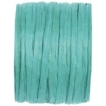 Bobine raphia turquoise 20m
