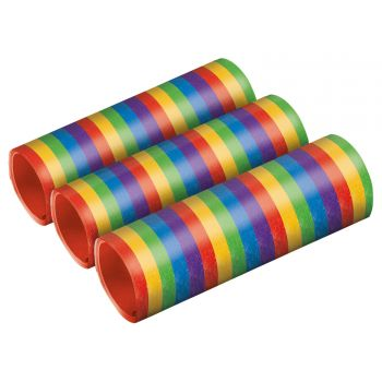 3 rouleaux serpentins rainbow