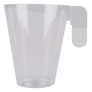 12 tasses à thé design transparent en plastique