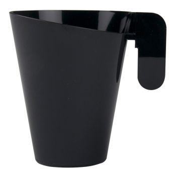 12 tasses à thé design noire en plastique