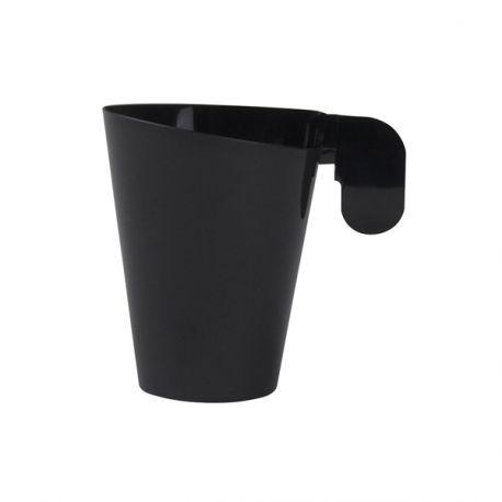 Lot de 12 tasses à café en plastique design de couleur noirIdéal pour expressoContenance; 7.2cl
