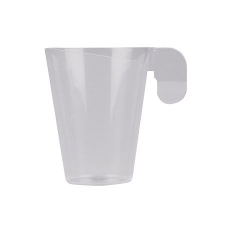 Lot de 12 tasses à café en plastique design transparenteIdéal pour expressoContenance; 7.2cl