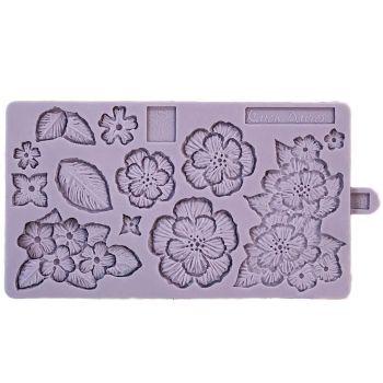 Moule en silicone broderie de fleur au pinceau KD