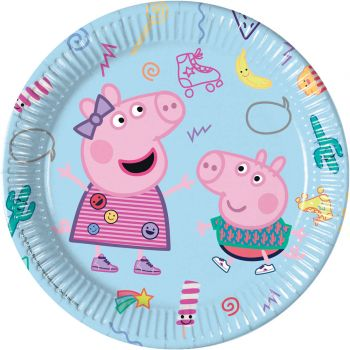 8 Assiettes Peppa Pig