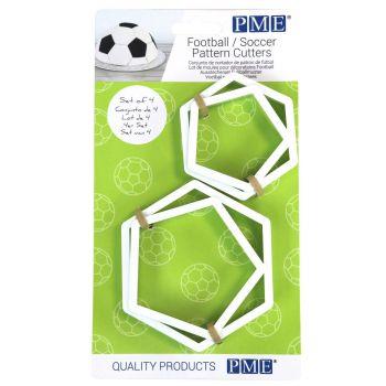 4 Emporte pièces pentagonales foot
