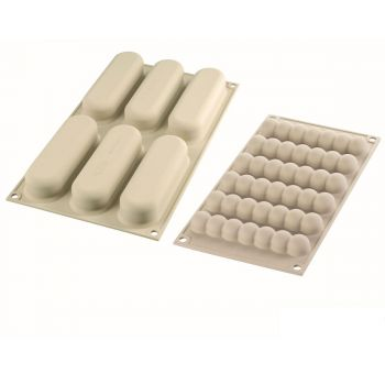 2 Moules en silicone Silikomart Eclair chic