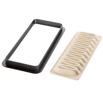 Kit moules en silicone Silikomart Tarte graphique