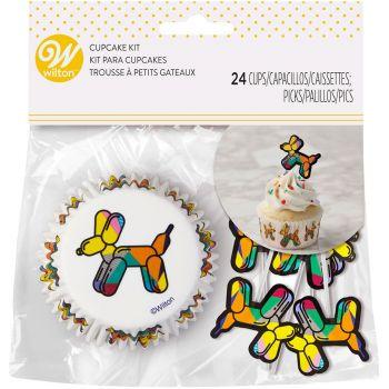 Kit 24 caissettes balloon dog avec pics