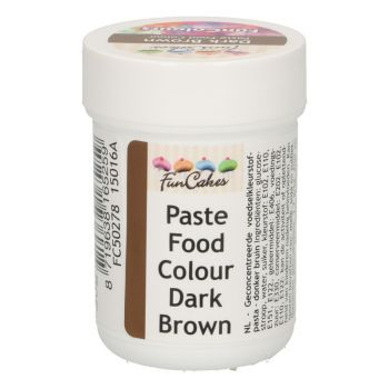 Pâte colorante alimentaire Funcakes marron