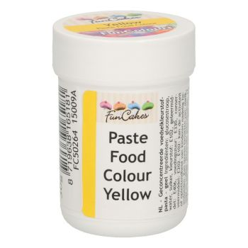 Pâte colorante alimentaire Funcakes jaune