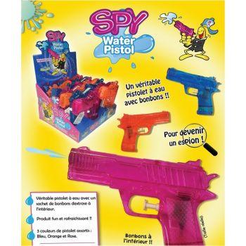 Pistolet à eau rempli de bonbons