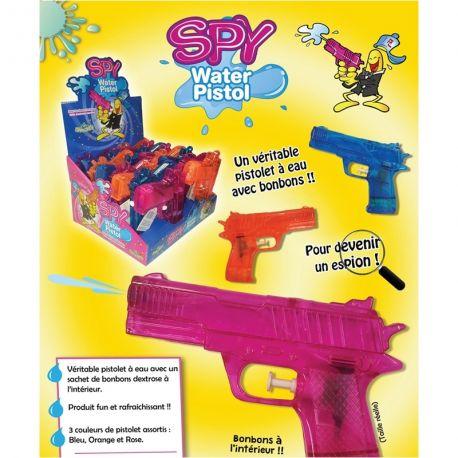 Un produit fun et rafraîchissant que les enfants vont adorer SPY WATER PISTOL, un pistolet à eau, rempli dans sa crosse de délicieux...